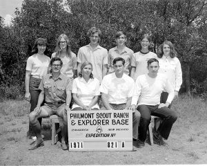 Crew 821-A was one of the first coed Philmont Crews in 1971.
